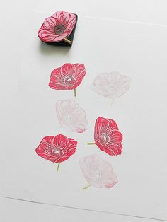 flower | rubber stamp | Ewa | Flickr