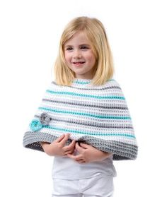 redheartyarns:LW5251 Toddler's Perfect Poncho Free Crochet...