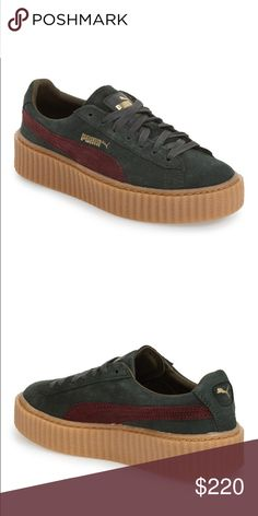 more photos fbf75 0f4df Puma x Fenti Rihanna Puma Creepers Green-Bordeaux This listing is for a  Brand New. Skor SneakersBordeaux