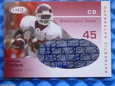 2003 SAGE MARCUS TRUFANT Autograph Rookie Card RC #/930 Seahawks #A40 #SeattleSeahawks