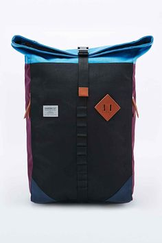 1a2cd82d8e Sandqvist Eddy Rolltop Backpack in Black and Plum