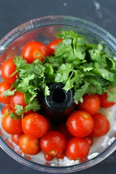 This easy cherry tomato salsa is the perfect way to use up your garden tomatoes! This is perfect over chips or tacos. Cherry Tomato Salsa, Tomato Salsa Recipe, Cherry Tomato Recipes, Clean Eating Snacks, Healthy Snacks, Eating Healthy, Freezing Cherry Tomatoes, Cilantro Recipes, Gluten Free Puff Pastry