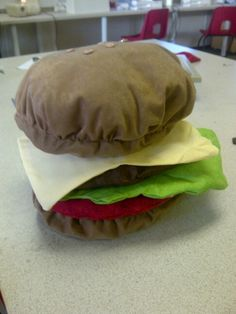 Pupil work, soft sculpture burger