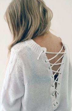97676255c1b8 59 Best Slipt-open back sweater images