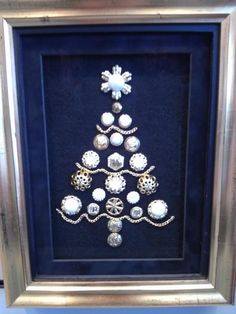 Do you like to make homemade gifts? Find some unused jewelry to create a unique gift. Older pieces handed down work great such as broaches, pins, cuff links.....the possibilities are endless with Custom Framing !!!