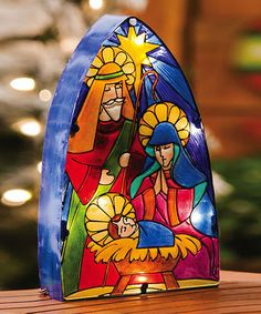 Take a look at this Holy Night Lamp by Evergreen on #zulily today! $35 !!