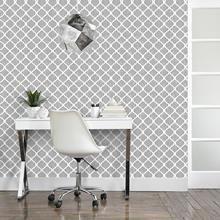 Modern Wallpaper - Update Your Home. Modern Wallpaper, Wall Wallpaper, Wallpaper Ideas, Diy Bedroom Decor, Wall Decor, Home Decor, Dream Bathrooms, Quatrefoil, Decoration