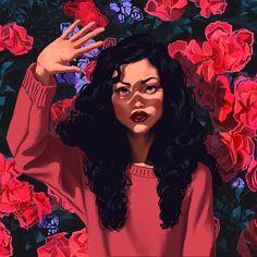 Image about art in Character illustration by Jung Kyung-Soon Black Girl Art, Black Women Art, Digital Portrait, Portrait Art, Digital Art Girl, Pretty Art, Cute Art, Art Et Design, Wow Art