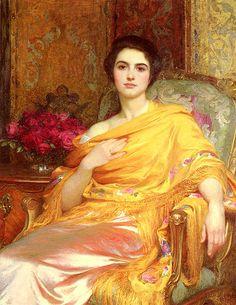 Portrait of Elsa, by Frank Dicksee (1853-1928)