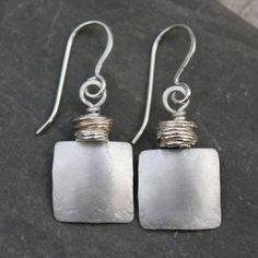 Matt silver earrings £30.00