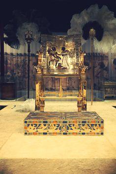 Golden Throne - Tutankhamun, his Tomb and his Treasures Exhibit.