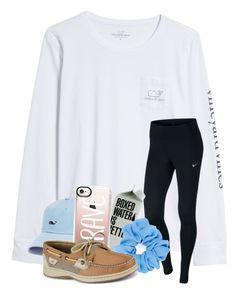 """Rtd"" by magsvolleyball2 ❤ liked on Polyvore featuring Vineyard Vines, NIKE, Casetify and Sperry"