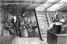 "A good article on what our ancestors endured, making the Atlantic crossing in ""steerage"" class..."