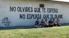 NO OLVIDES QUE TE ESPERO, NO ESPERES QUE TE OLVIDE  #streetart #accion