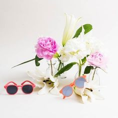 Our awesome baby sunglasses and kids sunglasses come with UV Protection. Baby Sunglasses, Spring Time, Summer Fun, Floral Wreath, Instagram, Hearts, Canada, Shades, Eyes
