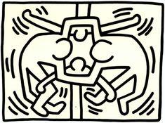 Untitled, 1988 Sumi Ink on Paper 40 x 30 inches x cm Keith Allen, James Rosenquist, Basquiat, Art Niche, Keith Haring Art, Claes Oldenburg, Modern Pop Art, Jasper Johns, Sumi Ink