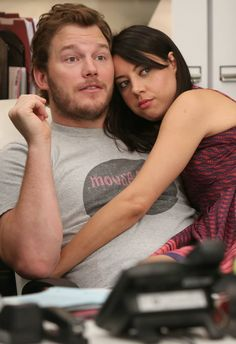 Andy and April - Parks and Recreation Parks N Rec, Parks And Recreation, Andy And April, Beautiful Love Stories, Tv Couples, Tv Actors, Love Story, Movie Tv