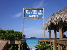 No one ever wants to leave Half Moon Cay. #HMC #Caribbean