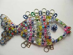 recycle soda tabs - crafts ideas - crafts for kids