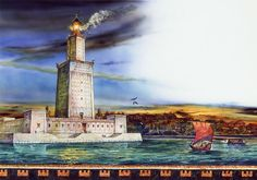 The lighthouse was the only ancient wonder that had a practical use, serving as a beacon for ships in the dangerous waters off the Egyptian port city of Alexandria, now called El Iskandarîya.Constructed on the small island of Pharos between 285 and 247 B.C., the building was the world's tallest for many centuries. Its estimated height was 384 feet (117 meters)—equivalent to a modern 40-story building—though some people believe it was significantly taller