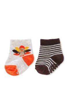 Carters  Boys Thanksgiving Turkey Sock