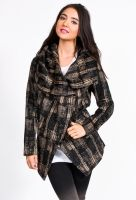 Funktional's City Shawl Coat is all you need in the cold, fashion and function! Zip front with additional snap allowing for multiple ways to wear it.    50% cotton, 50% polyester  Imported    $179