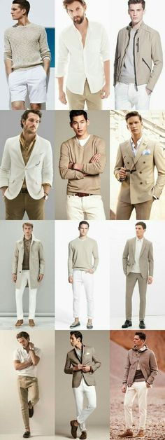 Men's khaki and white combinations - Spring/Summer outfit inspiration. Black Men Summer Fashion, Mens Spring Fashion Outfits, Fashion Spring, Fashion Moda, Mens Fashion, Super Moda, Moda Instagram, Style Masculin, Herren Style