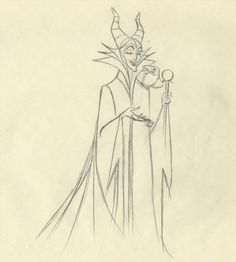 Maleficent Sleeping Beauty drawing by Marc Davis | of 3 : Disney SLEEPING BEAUTY Marc Davis Scene Animation Drawing ★ || CHARACTER DESIGN REFERENCES (https://www.facebook.com/CharacterDesignReferences & https://pinterest.com/characterdesigh) • Love Character Design? Join the #CDChallenge (link→ https://www.facebook.com/groups/CharacterDesignChallenge) Share your unique vision of a theme every month, promote your art in a community of over 25.000 artists! || ★