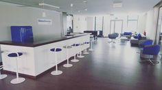 #DeskCenterSolutions #lounge #communication #corner #atmosphere #great #place #professionals #grey #blue #wood #summer #leipzigram #leipzigcity #momentaufnahme