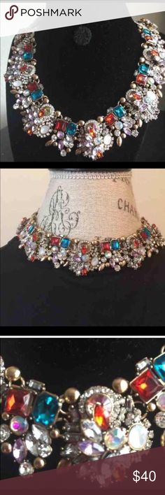 🎉The Duchess III Statement Necklace Another Posh Favorite! This beautiful multi-colored Crystal choker necklace makes a statement when you walk into the room. 15-18 inches with an adjustable closure. Jewelry Necklaces
