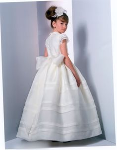 Communion dress with lace communion dress in the empire style white