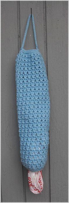 Hanging Plastic Bag  Storage / Holder by DebbieCrochets on Etsy, $9.99