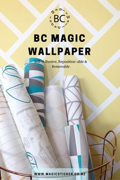 Our wallpaper is Self-Adhesive, reposition-able & removable! Ideal for Kids rooms & Nurseries. Check out our wallpaper patterns at www.magicsticker.co.nz