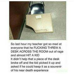 This image was shared via LOL Pics Funny Tumblr Stories, Funny Tumblr Posts, Funny School Stories, Lol, Funny Texts, Funny Jokes, Funny Pins, Funny Stuff, Random Stuff