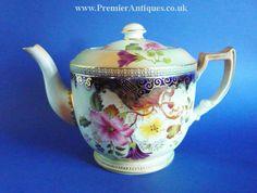 Carlton Ware 'Cornucopia' teapot c1899