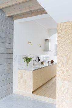 Expected entrance level will be a modern concrete house - De Standaard Küchen Design, Home Design, Interior Design, Plywood Interior, Kitchen Dinning, Modern Kitchen Design, Kitchen Interior, Home Kitchens, Interior Architecture
