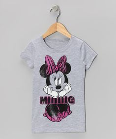 Take a look at this Gray & Pink 'Minnie' Tee - Girls by Disney on #zulily today!