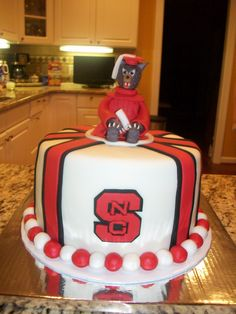 NC State University Graduation Cake College Parties Grad