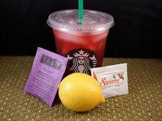 Make Starbucks' Passion Tea Lemonade at home! All natural and sugar free!