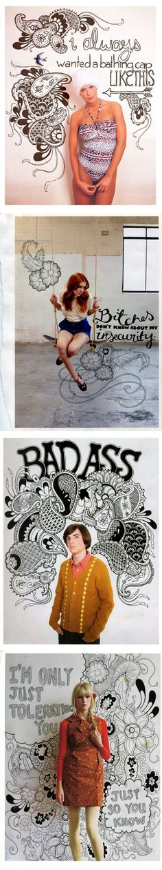 cool idea photos on white background then drawing desgins by hand, add background in photoshop! natalieperkins