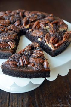 Just a Taste | Pecan Pie Brownies | http://www.justataste.com