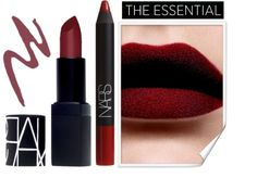 """NARS ; matte lipstick"" by fatal-poison-4-u on Polyvore... LOVE LOVE LOVE THIS SHADE OF RED"