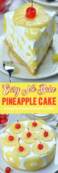 Bake Pineapple Cake Easy no-bake summery dessert with a creamy pineapple filling. The Best No Bake Pineapple Cake Recipe.Easy no-bake summery dessert with a creamy pineapple filling. The Best No Bake Pineapple Cake Recipe. Baked Pineapple, Pineapple Cake, Pineapple Desserts, Pineapple Dessert Recipes, Easy Summer Desserts, Summer Dessert Recipes, Cupcakes, Cupcake Cakes, Gourmet Recipes