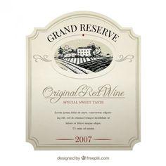 Étiquette de vin élégante Vecteur gratuit