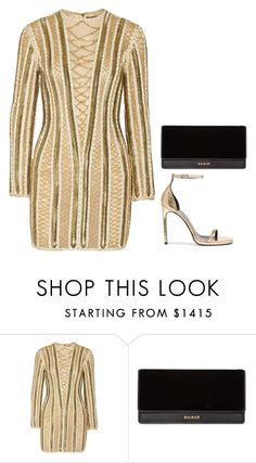 """Balmain"" by owl00 ❤ liked on Polyvore featuring Balmain and Yves Saint Laurent"