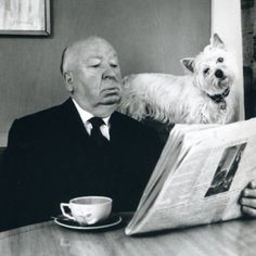 """Ani & Will on Instagram: """"Alfred Hitchcock loves having his dog around when having a cuppa.#tea #tealover #teaculture #Alfred Hitchcock"""""""