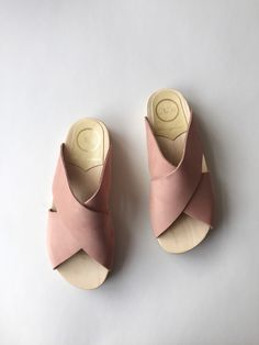 No. 6 Frida Clog on Flat Base, Blush