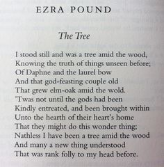 Erza Pound, The Tree