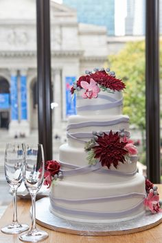 andaz 5th ave wedding - ang weddings and events - maggie marguerite studios - a simple cake