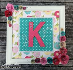 Playing with Paper: CTMH Scrapbooks, Cards & DIY: Baby's Initial Framed Nursery Decor